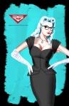 Vintage Retro Black Cat 3